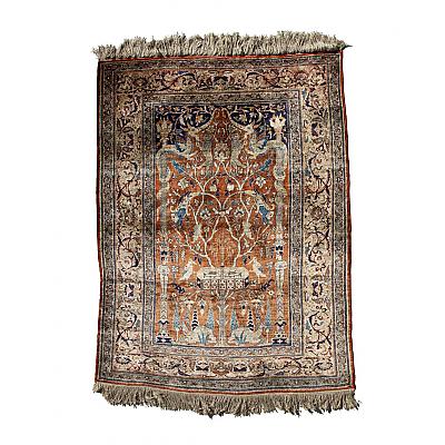 RD0071: Silk Tabriz Prayer Rug