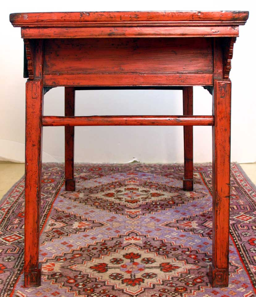 Uh10022 Red Lacquered Painting Table