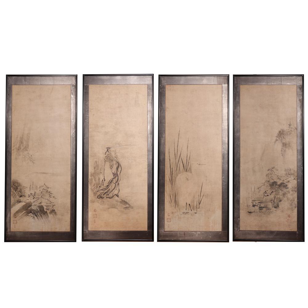 ES80013: Four Suibokuga Kano Tokinobu