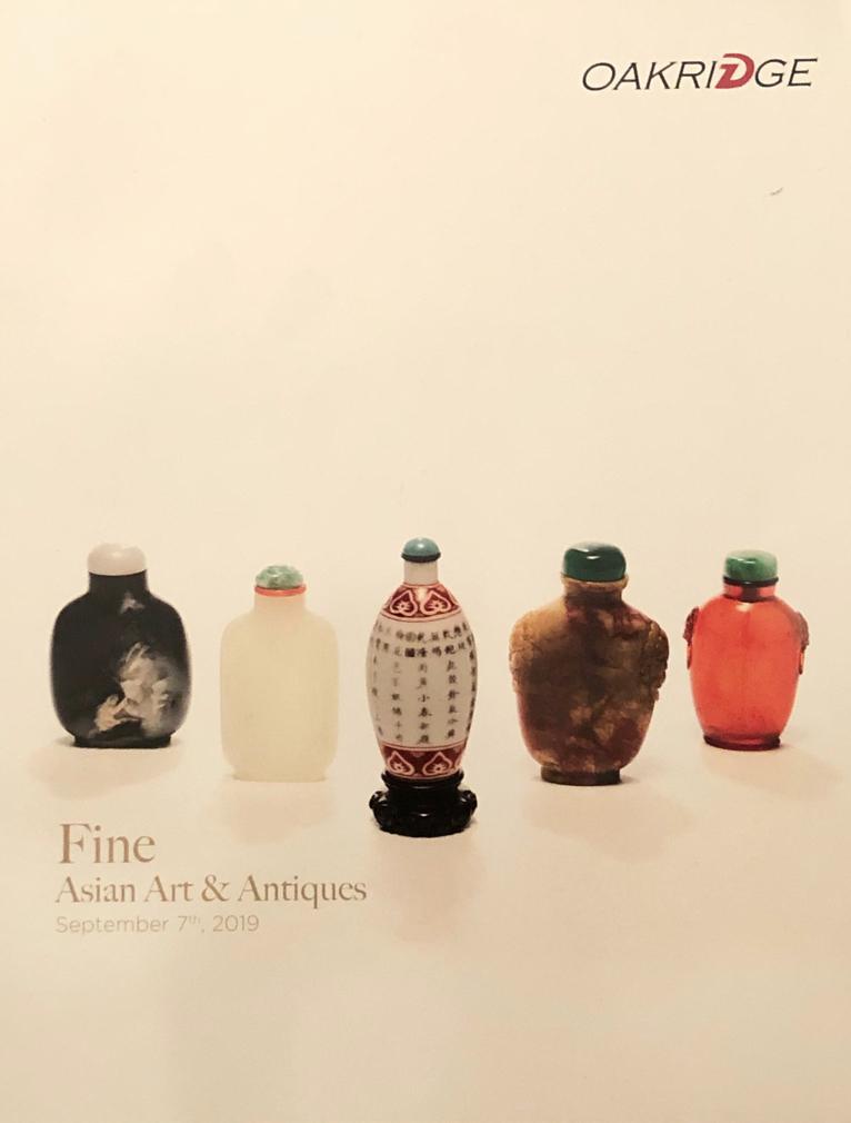 OVA20190907: Bookshop: Oakridge [2019] Fine Asian Art and Antiques
