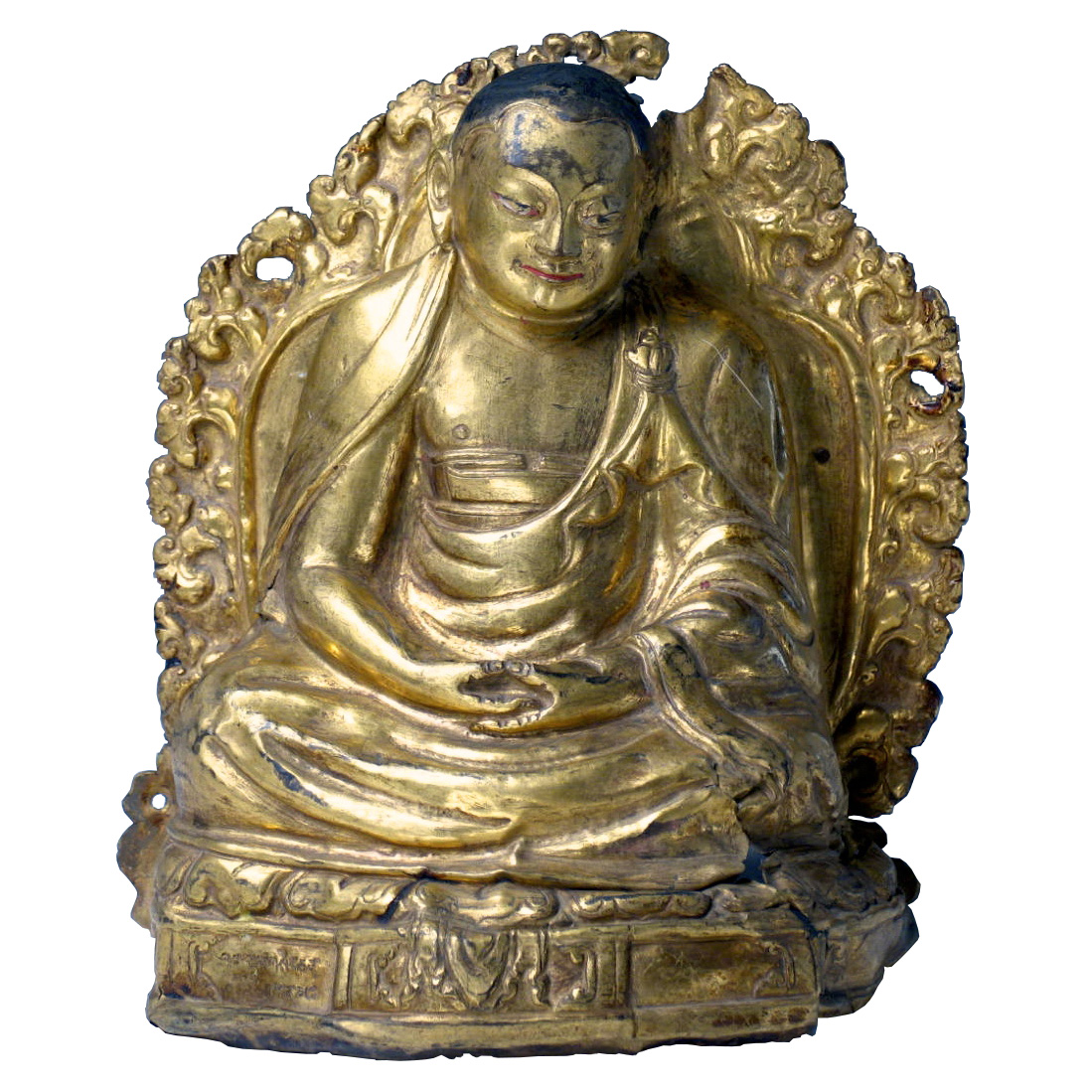 UH80028: Tibetan Gilt Copper Repousse Lama