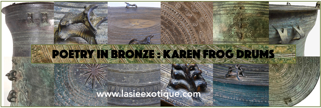 Southeast Asian Rain Drum, Karen Frog Drum, Burmese Bronze Drum, Kayah Drum