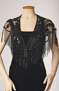 Beaded Capelet Shawl with Fringe - More Colors (2 days to ship). #2050BD