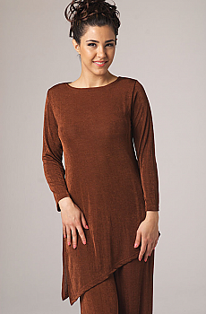 Asymmetrical Long Tunic Top. #MG206J