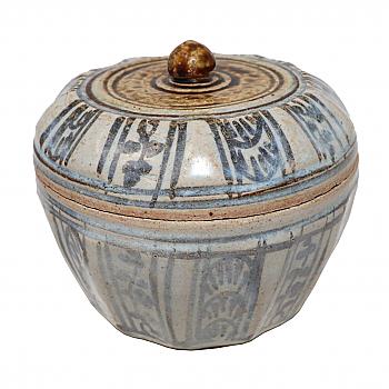 UH80141: Sawankhalok Ceramic Covered Box