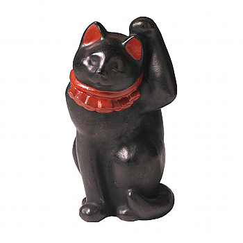 CT60004: Black Clay Maneki Neko