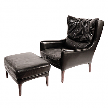 UH70006: Danish Lounge Chair and Foot Stool