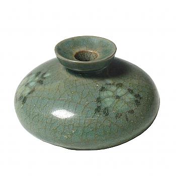 KG70003: Korean Inlaid Celadon Oil Bottle