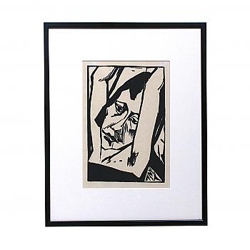 CY93307: Erich Heckel Woodcut