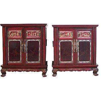 QA02188: Pair of Bedside Cabinets
