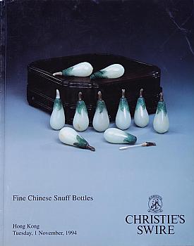 CHK19941101: Bookshop: [1994] Christies Hong Kong Fine Chinese Snuff Bottles