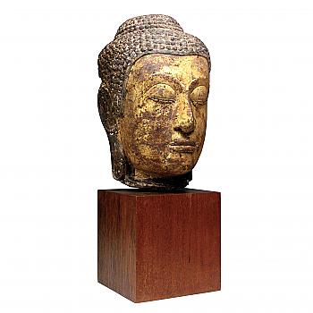 UH80050: Thai Sandstone Buddha Head