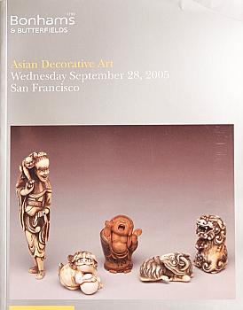 BSF20050928: Bookshop: [2005] Bonhams & Butterfields San Francisco Asian Decorative Art