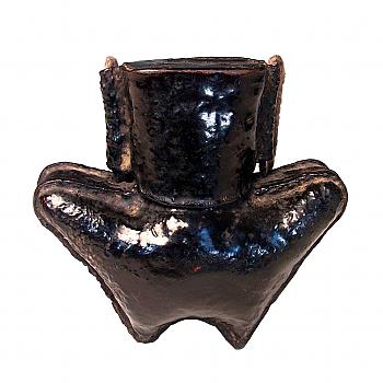 QA05075: Chinese Leather Tobacco Box
