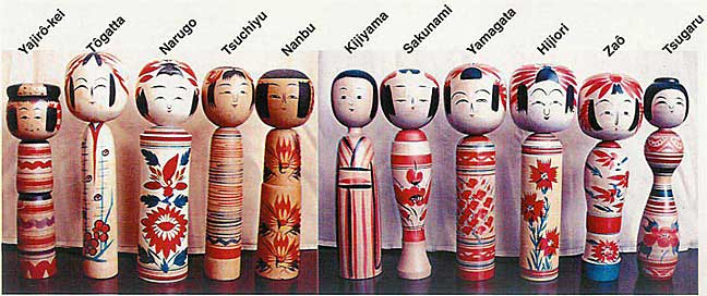 L'Asie Exotique: Northern Japan Traditional Kokeshi Dolls